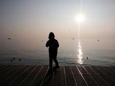 Sunset at the Garda Lake