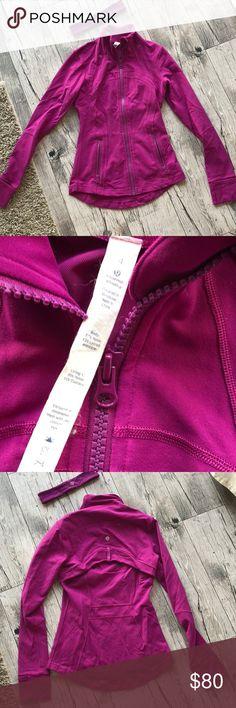 Lululemon define jacket Gorgeous plum purple color. Great condition. Come with matching headband. Size 4 lululemon athletica Jackets & Coats