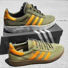 adidas Spezial and Trimm Trab In Military Green