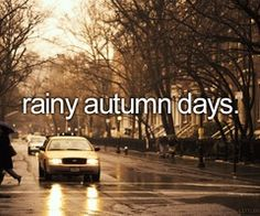 I want it to rain a lot this Fall, & Winter~