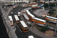 There's plenty of interest in this scene at #Piccadilly #bus station, taken from the roof of what is now #Primark bus was at the time Lewis' department store. We think the photo was taken about 1989, and what's interesting is how dominated the scene is by #GMBuses, the company that was split from Greater #Manchester Passenger Transport Executive in 1986.