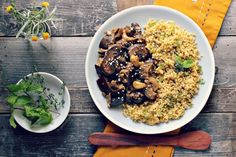 Eggplant and Mushroom Sauté With Herbed Toasted Millet [Vegan, Gluten-Free] | One Green Planet