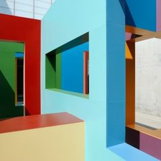 Colourful architectural structures at Turner Contemporary (Krijn de Koning) - exciting colour theme