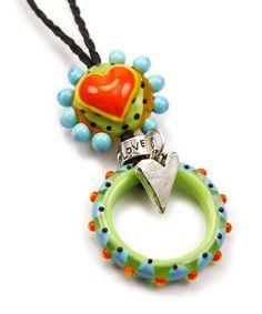 Love this - the heart, the disc, the charm - so cute.