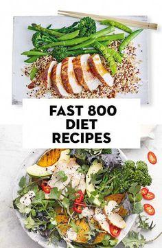 Fast Food Diet, Best Diet Foods, Best Diets, Low Fat Diets, No Carb Diets, 800 Calorie Meal Plan, Low Calorie Diet, Diet Recipes, Healthy Recipes