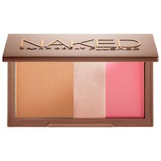 What it is: A silky bronzer, highlighter, and blush in a sleek, travel-ready compact. What it does: Use these pressed powders individually or blend them together to create just the right effect. Urban Decay's micronized, jet-milled formula has