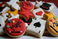 Magic show cookies for kids party food ideas