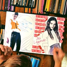 Ilustraciones y fotos de Danny Roberts para la agencia IMG Models.