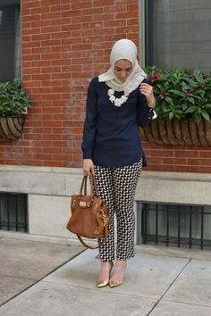 Hijab // Similar Top  // Necklace // Pants // Coat // Heels     So this Hijab is very special to me f...