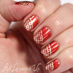 The Bronze Age – Bronze and Gold Lace Nail Art for My Blogiversary