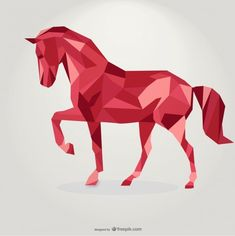 Red Horse Triangle Design by Freepik