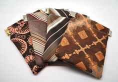 turn old ties into coin purses