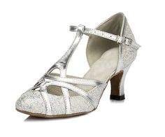 Frommk sandals Women's T-strap Glitter Salsa Tango Ballroom Latin Dance Shoes Wedding Pumps ** Find out more about the great product at the image link.
