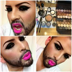 He did a great job with the makeup but I just CANNOT stop laughing!!!!