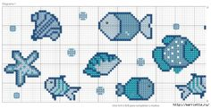 Вышивка крестом на морскую тематику. Схемы (1) (700x359, 214Kb)