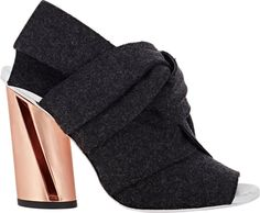 PROENZA SCHOULER Knotted Bow Mules with a rose-gold heel
