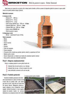 Cum se construieste un gratar din caramida? Outdoor Barbeque, Pizza Oven Outdoor, Bbq Grill Diy, Grilling, Barbacoa, Stone Pizza Oven, Stone Bbq, Brick Bbq, Brick Construction