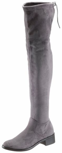 s.Oliver RED LABEL Overkneestiefel, in schlichter Optik ab 49,99€. Sitefel in schlichter Optik, Obermaterial aus Textil in Velourslederoptik bei OTTO