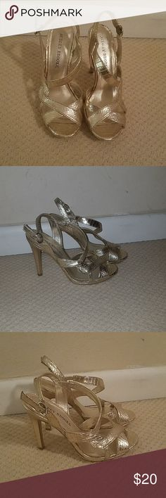 SIZE 2.5 3 4 5 6 CAMEL GOLD CARAMEL BEIGE SATIN CORSAGE SPECIAL OCCASION SHOES