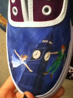Peter Pan Shoes - Hand Painted