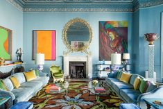 Francis Sultana Breathes New Life Into a Storied London Residence For Himself and Partner David Gill — Architectural Digest Architectural Digest, Old Apartments, Melbourne House, Mirror Painting, Dining Room Walls, Modern Materials, Commercial Interiors, New Life, Graphic