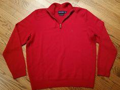 Polo Ralph Lauren Polo Golf Half Zip Sweater 100% Merino Wool red Men's Large #PoloRalphLauren #12Zip