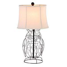 Metal Bronze Owl Table Lamp at Kirkland's