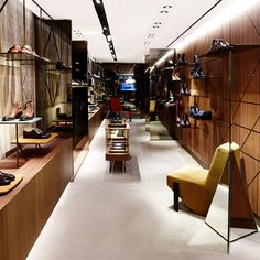 Madison Avenue boutique - New York. Design by Patricia Urquiola  #santoni #Madisonavenue #santonishoes