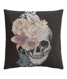 Your Dark Palace: Skull and Flowers Cushion Cover from H&M Home. $9.95.