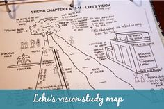 This study map is so helpful for studying Lehi's vision!