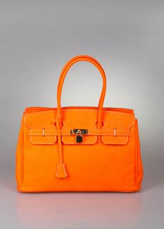 Birkin it bag, in orange neon