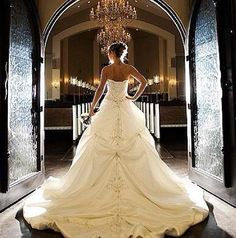 I love details in the back and front of a wedding gown! Beautiful Wedding Gowns, Perfect Wedding, Beautiful Dresses, Dream Wedding, Gorgeous Dress, Wedding Things, Wedding Stuff, Wedding Styles, Wedding Photos