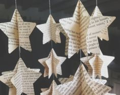 Papier-Mobile Karte Sternen Papier Stern Mobile von MaisyandAlice