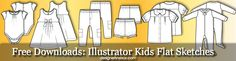 Illustrator Fashion Templates: Free Childrens / Kids Flat Sketches