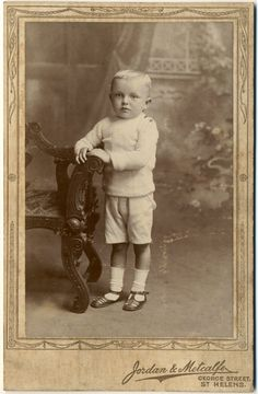 Antique Cabinet Card Photograph  Blond Boy in Shorts c by acanthe, £5.00