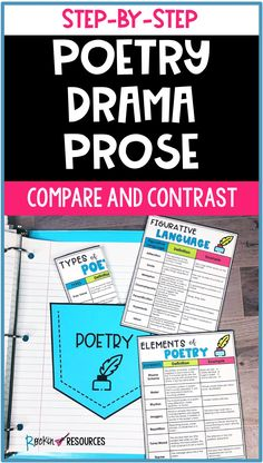 Poetry Drama Prose Compare and Contrast Teaching Poetry, Help Teaching, Writing Poetry, Teaching Reading, Teaching Ideas, Poetry Examples, Elementary Teacher, Upper Elementary, Mentor Texts