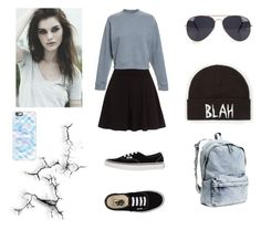 """""""Gray/Blue"""" by stardusty1 ❤ liked on Polyvore featuring Acne Studios, Vans, NLY Accessories, Volcom, H&M and Casetify"""