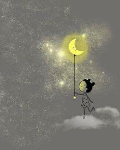 Gianni Rodari, La luna al guinzaglio --- https://ilsassonellostagno.wordpress.com/2016/08/21/gianni-rodari-la-luna-al-guinzaglio/