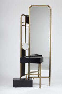 Bialik: A Set of Dressing Room Furniture - Design Milk Dressing Table, Dressing Room, Dressing Mirror, Furniture Inspiration, Interior Inspiration, Mirror Inspiration, Console Table, Room Furniture Design, Modern Furniture