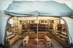 outdoor shopping area at TOMS flagship store (Venice, CA) // Design by Simone Drucker.