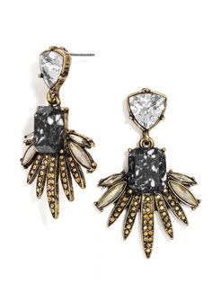 Scorpio Drops | I love how this style is a mix of both edgy and organic! #baublebar #swatstyle #earrings #statement