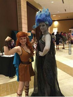 Gender-swapped Hercules and Hades - 9GAG