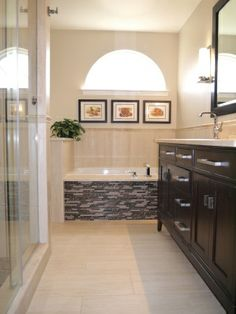 Small Master Bathroom - like the tile and niches