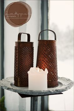 these look especially nice with a votive under the grate...glowing