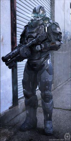 ArtStation - Star Citizen - Heavy Slaver Armor Concept, Jeremiah Lee