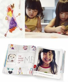 Keep all the kids' artwork in one place. Create a photo book of their favorite drawings. | Shutterfly