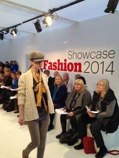 Katie Brown Scarves on the runway at Showcase Ireland - katiebrowndesigns.co.uk