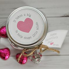 "This is THE perfect Valentine's gift for teachers: ""It Takes a Big Heart to Help Shape Little Minds"" #TeacherGift"