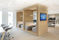 Nuon Office by HEYLIGERS Design+Projects Diversiteit aan werkplekken. Benieuwd naar akoestisch comfort.