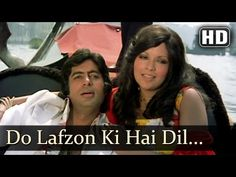 The Great Gambler - Do Lafzon Ki Hai Dil Ki Kahani - Amitabh Bachchan - Zeenat Aman - Asha Bhosle Hindi Music Song, Hindi Old Songs, 90s Hit Songs, Movie Songs, Movies, Old Bollywood Songs, Vintage Bollywood, Kishore Kumar Songs, Films